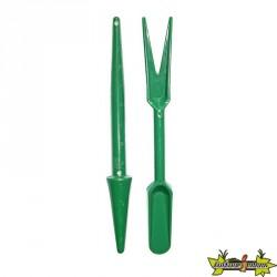 Set de repiquage vert (plantoir + 1 outil de repiquage)