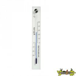 KELVIN4 thermomètre mural d'extérieur en verre 26x4,5x0.5cm