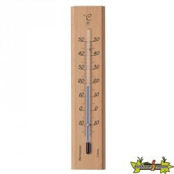 Kelvin 9 thermomètre mural intérieur/extérieur en bois H19x4x1cm