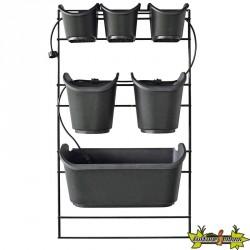 Kit mur végétal pour plantes d'ornement et potagères H84x48cm