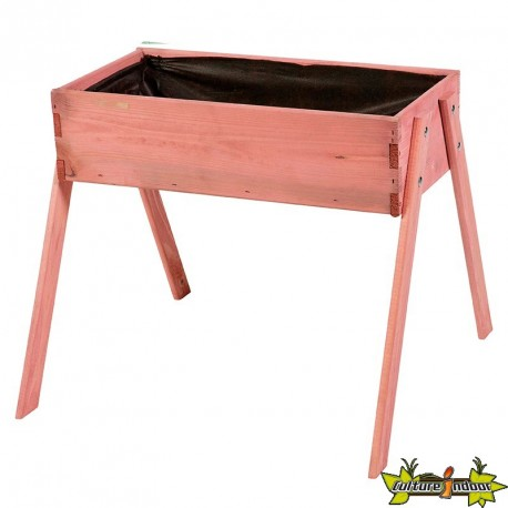 Potager en bois de pin junior rose - 60x53x45 cm
