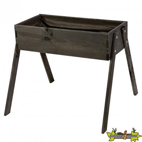 Potager en bois de pin junior noir - 60x53x45cm