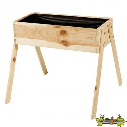 Potager en bois de pin junior naturel - 60x53x45cm