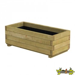 Bac rectangle en bois épicéa autoclave pot 92 x 42 x 32cm - Traité contre les fongicides