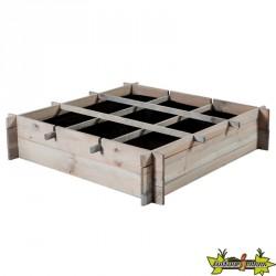 Potager Samos gris en bois de pin - 90x90x20cm