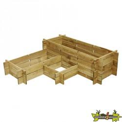 Potager Bois Manhattan System en bois de pin autoclave Classe 3 - 120x120cm