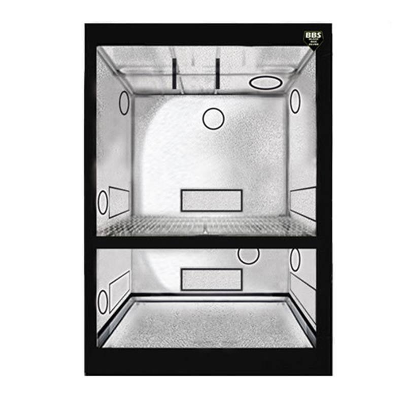 Blackbox Silver Chambre de Culture - Dual BBS - 100X100X200 cm , armoire de culture 2 étages croissance et floraison