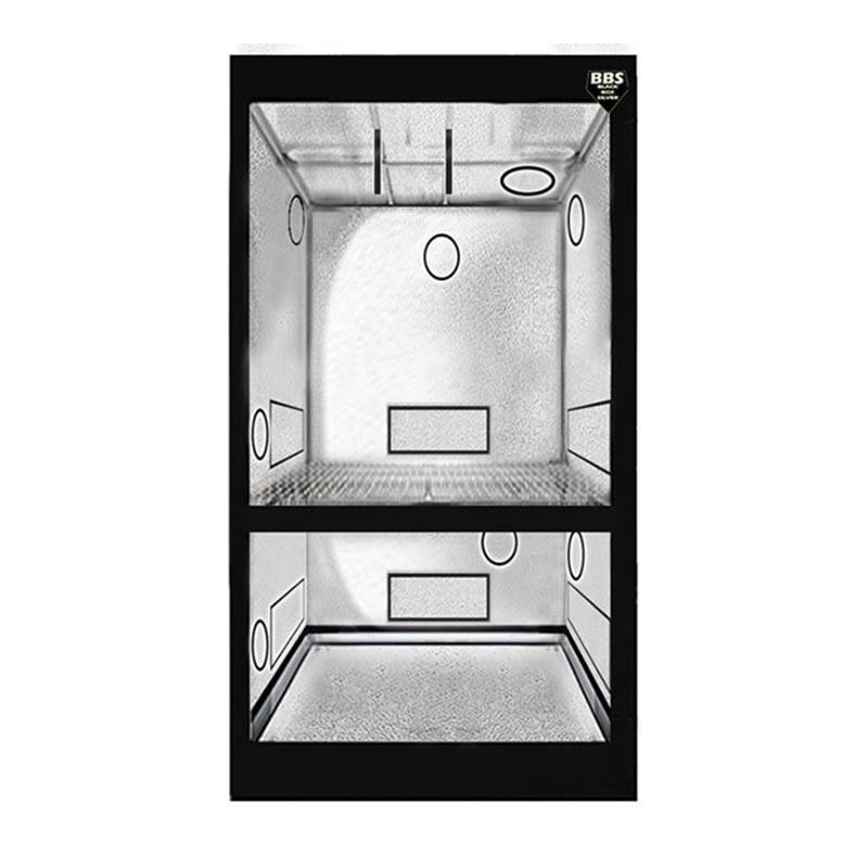 Blackbox Silver Chambre de Culture - Dual BBS - 80X80X200 cm ,armoire de culture 2 étages croissance et floraison