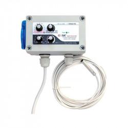 GSE Fan Contrôleur min-max HYSTERESIS pour 1 extracteur d'air (3A max)