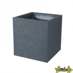 EDA Plastiques - Jardinière carrée - Graphit - gris anthracite - 31L