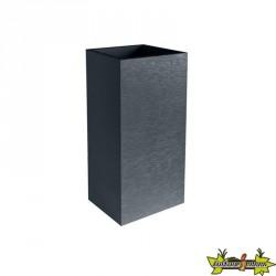 EDA Plastiques - Jardinière carrée haute - Graphit - Gris anthracite - 31L