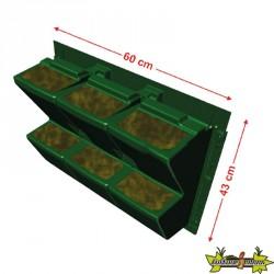 MODULOGREEN JARDINIERE 60CMX43CM(H) substrat gouttiere crochet inclus