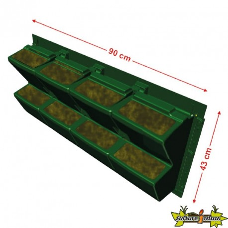 MODULOGREEN JARDINIERE 90CMX43CM(H) substrat gouttiere crochet inclus