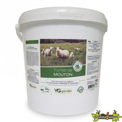 Fumier de mouton 5Kg - amendement organique 100% d'origine naturelle - VG GARDEN