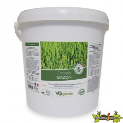 Engrais Gazon 5kg - Ingrédients 100% d'origine naturelle - amendement bio - VG Garden