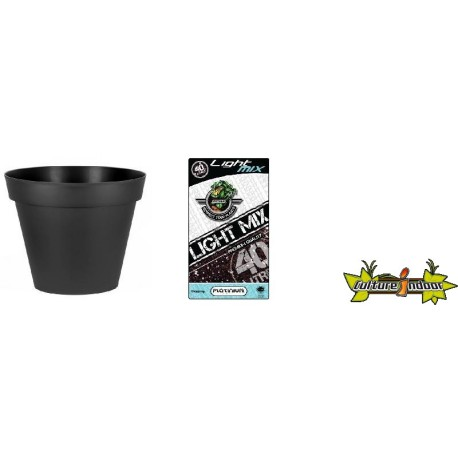Pack - Pot EDA Toscane Anthracite rond 356L + Substrat Platinium LightMIX 40L