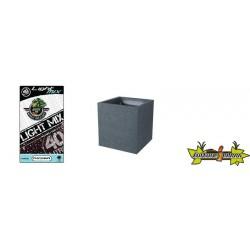 Pack - Pot carré Graphit Gris anthracite 31L + Substrat Platinium LightMIX