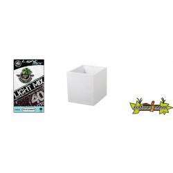 Pack - Pot carré Graphit Blanc 31L + Substrat Platinium LightMIX