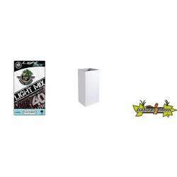 Pack - Pot haut Graphit 31L Blanc Ceruse + Substrat Platinium LightMIX