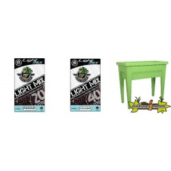Pack - Espace potager Vegetable City Matcha- 57L + Substrat Platinium LightMIX