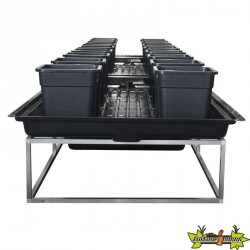 TABLE A MAREE FLOWTABLE PRO RECTANGLE 6 M2 + 16POTS 25L SYSTEME COMPLET