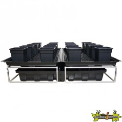 TABLE A MAREE FLOWTABLE PRO CARRE 6M2 + 16POTS 25L SYSTEME COMPLET