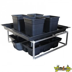 TABLE A MAREE FLOWTABLE PRO 1.44M2 + 4 POTS 25 L SYSTEME COMPLET