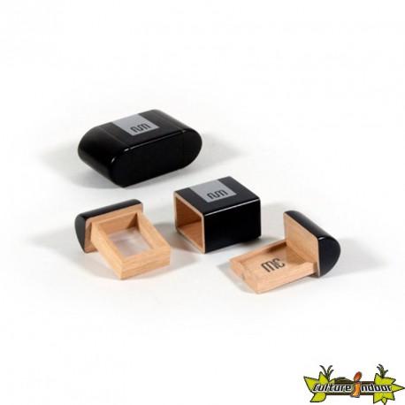 Fum Box mini en bois de couleur noir