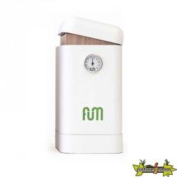 Fum Box vertical en bois de couleur blanche