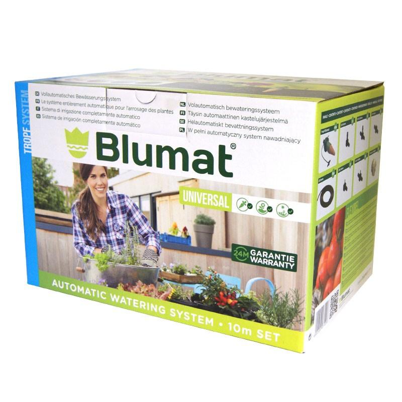 BLUMAT set d'arrosage 40 plantes complet pour 10m linéaire, sans pompe ni électricité, arrosage vacances
