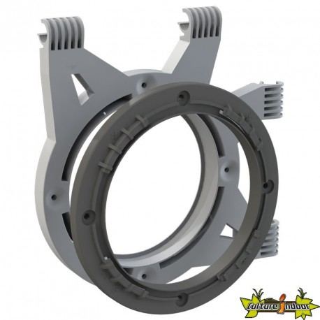 SECRET JARDIN - SUPPORT DE FLANGE DUCTING FLANGE DF16 POUR GAINE (POUR  BARRE 16MMM)