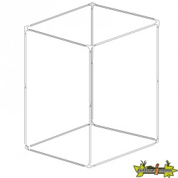 Structure de chambre de culture BBS - 150x150x200