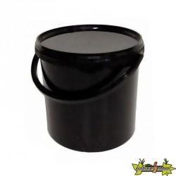 Lot de 10 Seaux avec couvercle pour conservation - Noir, 10,7L, Ø 267mm
