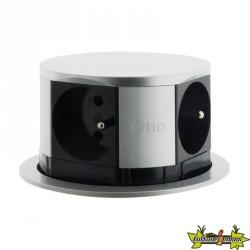 Bloc escamotable Ø100mm compact 4 prises