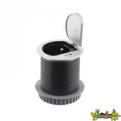 Bloc Bureau : 1 Prise 16A + 1 port USB 2,4A* encastrable Ø 60mm Câble 3G1mm² Longueur 1,90M