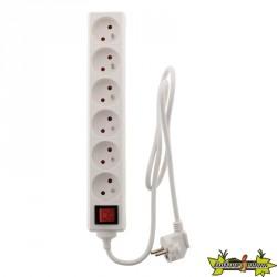 Bloc 6 Prises 16A interrupteur Blanc ZENITECH
