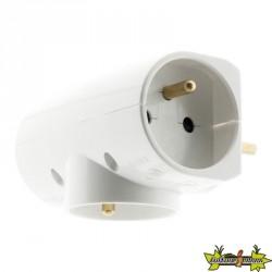 TRIPLITE 3x16A latérale Blanc