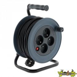 Enrouleur Ménager 3G 1 mm² - GRIS 15 M