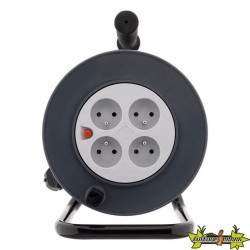 Enrouleur HO5VV-F 4 prises 3G1mm² 40 M + coupe-circuit