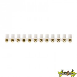 BARRETTES 6MM² BLANC 12 PLOTS