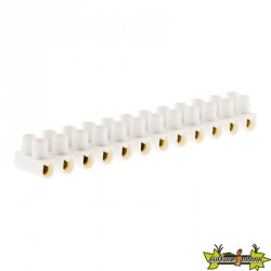 BARRETTES 4 mm² Blanc 12 plots