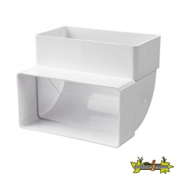 WINFLEX - COUDE PVC VERTICAL 55MMX110MM
