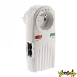 Parafoudre 1 prise protection téléphone + TV F/F 9,52mm (+ 2 raccords SAT M/F)