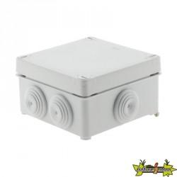 Boîte ETANCHE carrée 100x100x50 à visser 1/4 de Tour IP 55