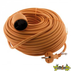 PROLONGATEUR HO5VVF 2 x 1.5 ORANGE 40 M