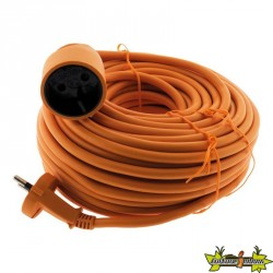 PROLONGATEUR HO5VVF 2 x 1.5 ORANGE 25 M