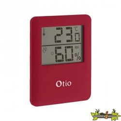 Thermomètre Hygromètre rouge Otio 65x80mm