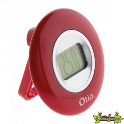 THERMOMETRE DIAMETRE 77mm A ECRAN LCD rouge