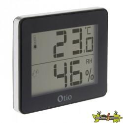 Thermomètre / Hygromètre d'intérieur avec écran LCD Noir - Otio