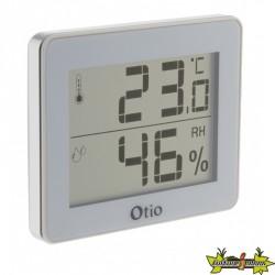 Thermomètre / Hygromètre d'intérieur avec écran LCD Blanc - Otio